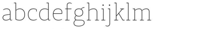 Synerga Pro Thin Font LOWERCASE