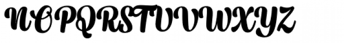 Syrup Script Bold Font UPPERCASE