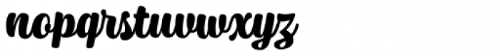 Syrup Script Bold Font LOWERCASE