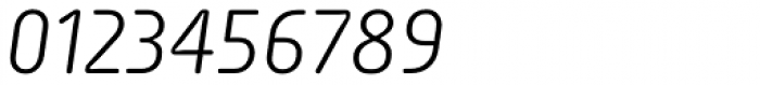 Sys Light Italic Font OTHER CHARS