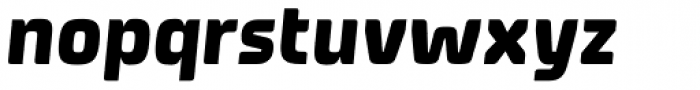 Systopie Heavy Italic Font LOWERCASE
