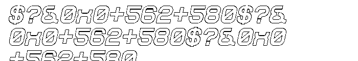 Sylar Outline Italic Font OTHER CHARS