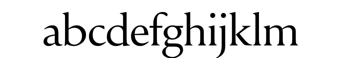 Symphony Display Regular Font LOWERCASE