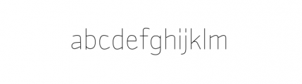 Sylvia Complete Light Font LOWERCASE