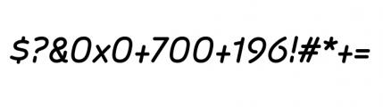 Sylvia Complete Medium Italic Font OTHER CHARS