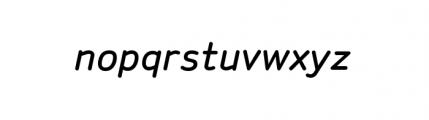 Sylvia Complete Medium Italic Font LOWERCASE