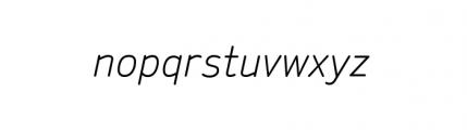 Sylvia Complete Regular Italic Font LOWERCASE