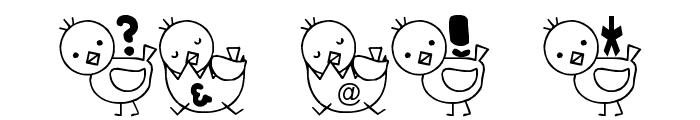 T-piyo Font Font OTHER CHARS