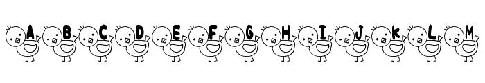 T-piyo Font Font UPPERCASE