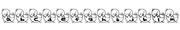 T-piyo Font Font LOWERCASE
