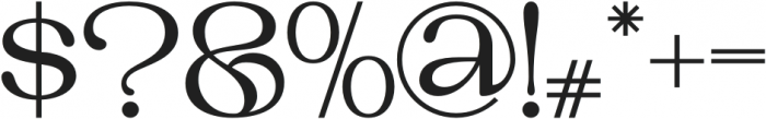 TANCLEMENTINE-Bold otf (700) Font OTHER CHARS
