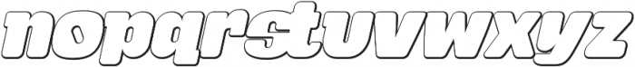 Tabardo Bevel Italic otf (400) Font LOWERCASE