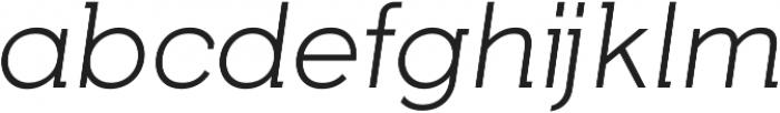 Tabarra Pro Light Italic otf (300) Font LOWERCASE