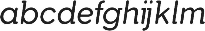 Tabarra Pro Round Italic otf (400) Font LOWERCASE