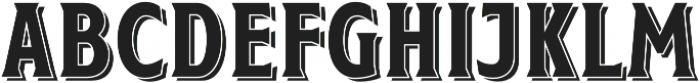Taberna Serif Regular Sh otf (400) Font UPPERCASE