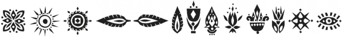 Tabu Font Symbols otf (400) Font UPPERCASE