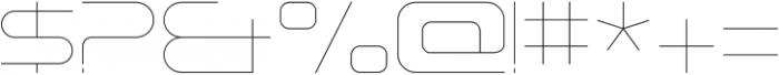 Tachyon Hairline otf (100) Font OTHER CHARS