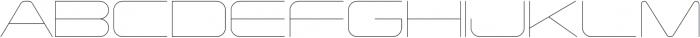 Tachyon Hairline otf (100) Font UPPERCASE