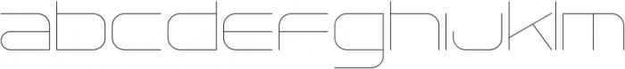 Tachyon Hairline otf (100) Font LOWERCASE