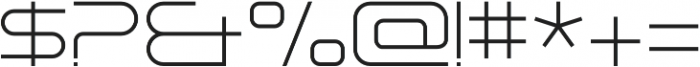 Tachyon Thin otf (100) Font OTHER CHARS