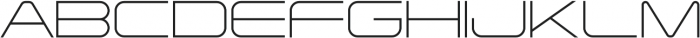 Tachyon Thin otf (100) Font UPPERCASE