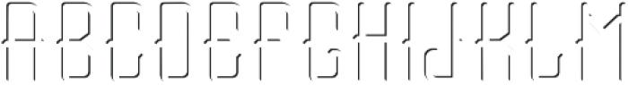Tail font Light FX otf (300) Font UPPERCASE