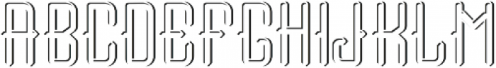 Tail font LightShadow FX otf (300) Font LOWERCASE