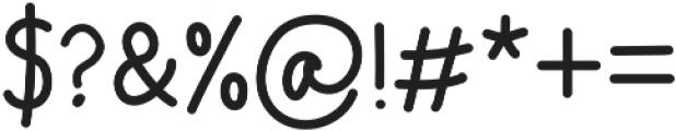 Take Note Regular otf (400) Font OTHER CHARS