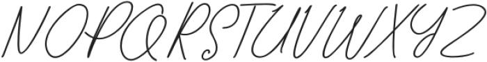TaliyahLight otf (300) Font UPPERCASE