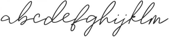TaliyahLight otf (300) Font LOWERCASE