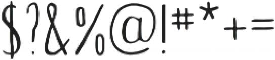 Tall Abbey Regular otf (400) Font OTHER CHARS