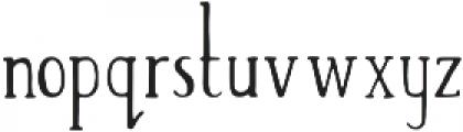 Tall Abbey Regular otf (400) Font LOWERCASE