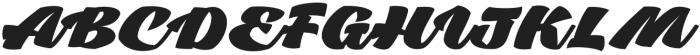 Tall Casat Fat otf (800) Font UPPERCASE