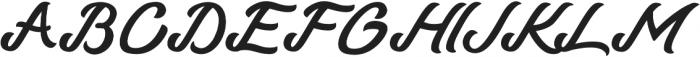 Talmano Italic otf (400) Font UPPERCASE