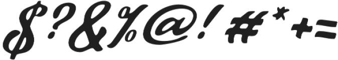 Talmano Rough Italic otf (400) Font OTHER CHARS