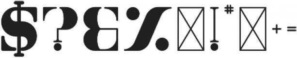Tamira Black otf (900) Font OTHER CHARS