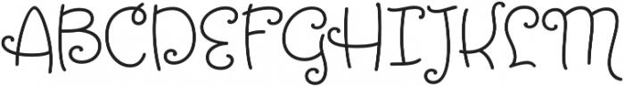 Tangelo otf (400) Font UPPERCASE