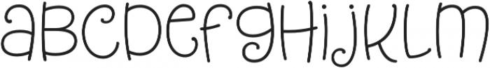 Tangelo otf (400) Font LOWERCASE