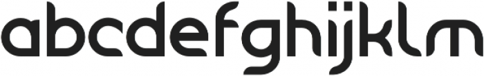 Tangential Rounded Bold otf (700) Font LOWERCASE