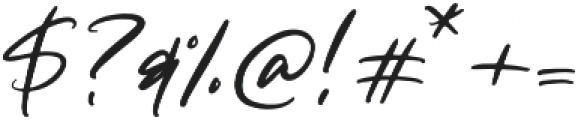 Tangerine Skies Script otf (400) Font OTHER CHARS