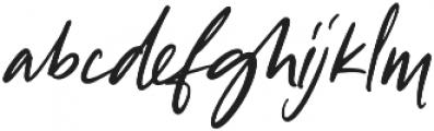 Tangerine Skies Script otf (400) Font LOWERCASE
