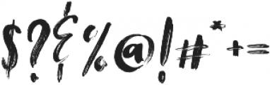 Tanktop Brush Alternative Fonts Regular otf (400) Font OTHER CHARS