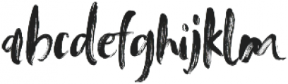 Tanktop Brush Alternative Fonts Regular otf (400) Font LOWERCASE