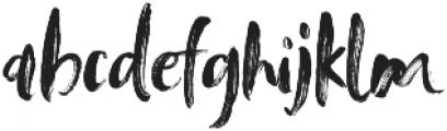 Tanktop Brush Alternative Fonts Regular ttf (400) Font LOWERCASE
