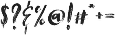 Tanktop Brush Fonts Regular otf (400) Font OTHER CHARS