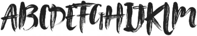 Tanktop Brush Fonts Regular otf (400) Font UPPERCASE