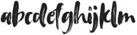 Tanktop Brush Fonts Regular otf (400) Font LOWERCASE