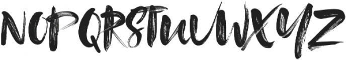 Tanktop Brush Fonts Regular ttf (400) Font UPPERCASE