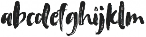 Tanktop Brush Fonts Regular ttf (400) Font LOWERCASE