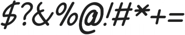 Tarnip Italic otf (400) Font OTHER CHARS